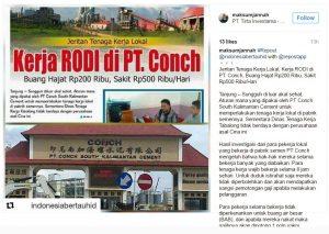 Tampilan posting artikel di akun Muhammad Ali Maksum di Instagram. gambar diambil 27 Desember 2016.