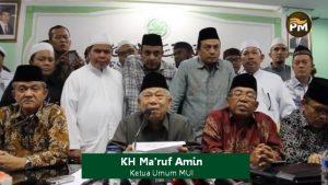 Ketua MUI KH Ma'ruf Amin dan para koleganya. Ilustrasi atas tulisan Rezki Fadillah yang dimuat di situs portalpiyungan.